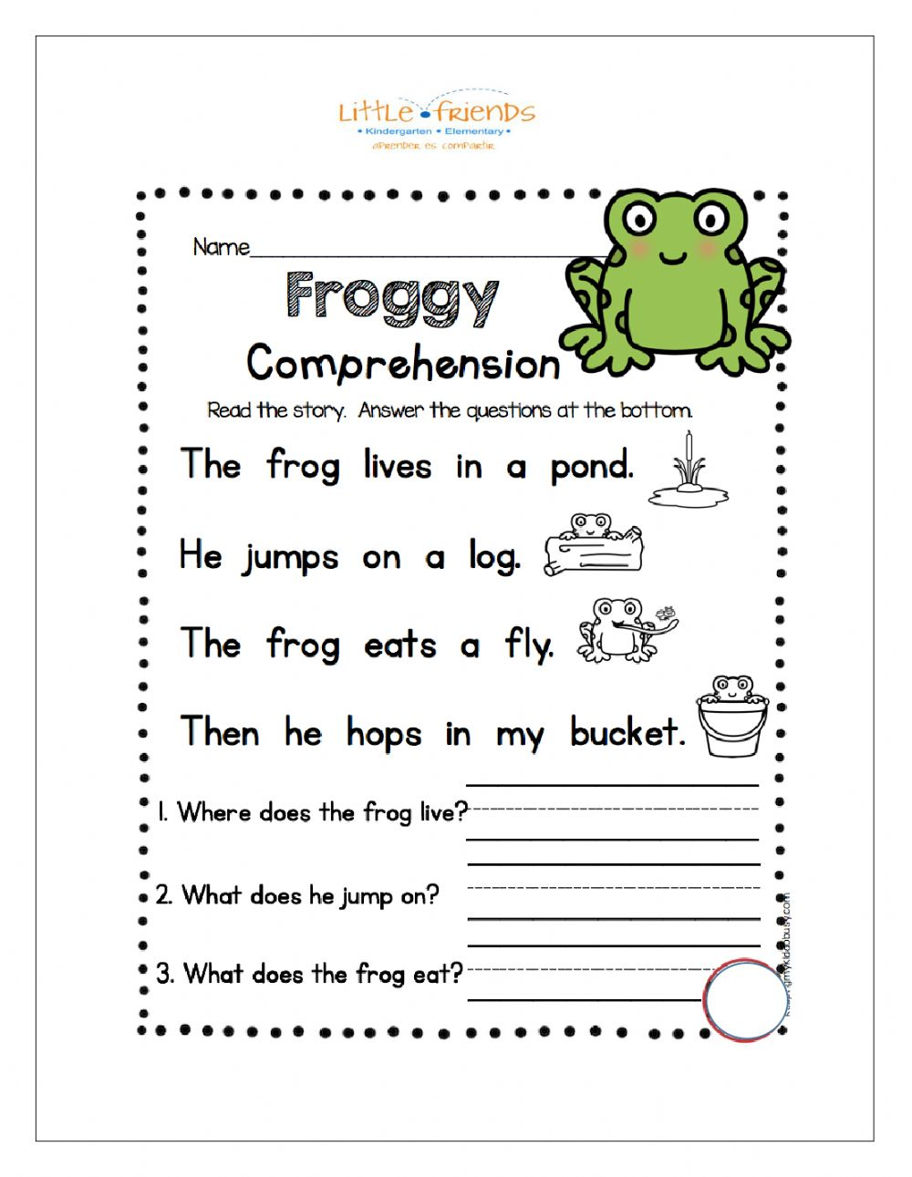 hight resolution of Reading Comprehension online exercise for 1st Grade