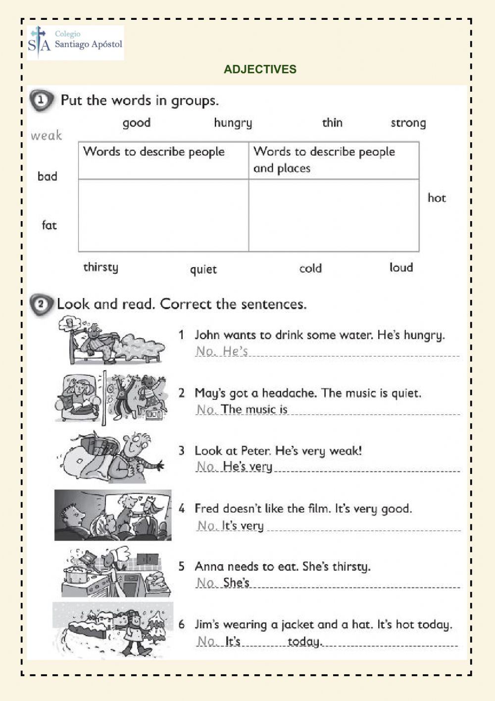 hight resolution of Adjectives online exercise for 3rd grade