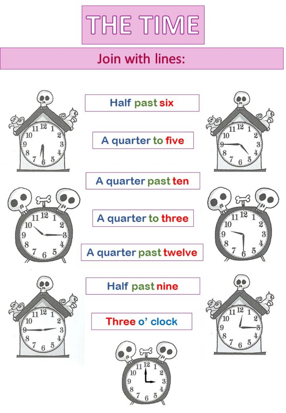 hight resolution of The Time interactive worksheet for 4th grade