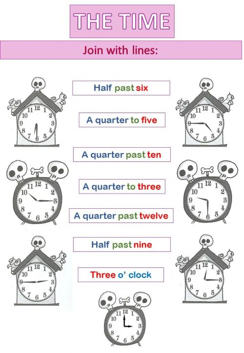 small resolution of The Time interactive worksheet for 4th grade