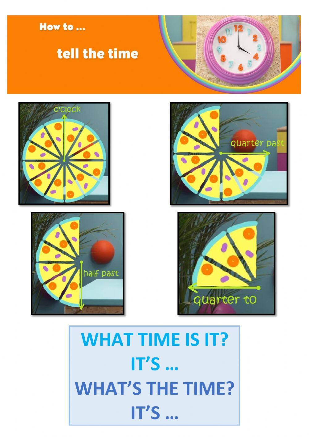 hight resolution of The time interactive activity for Grade 2 to 7