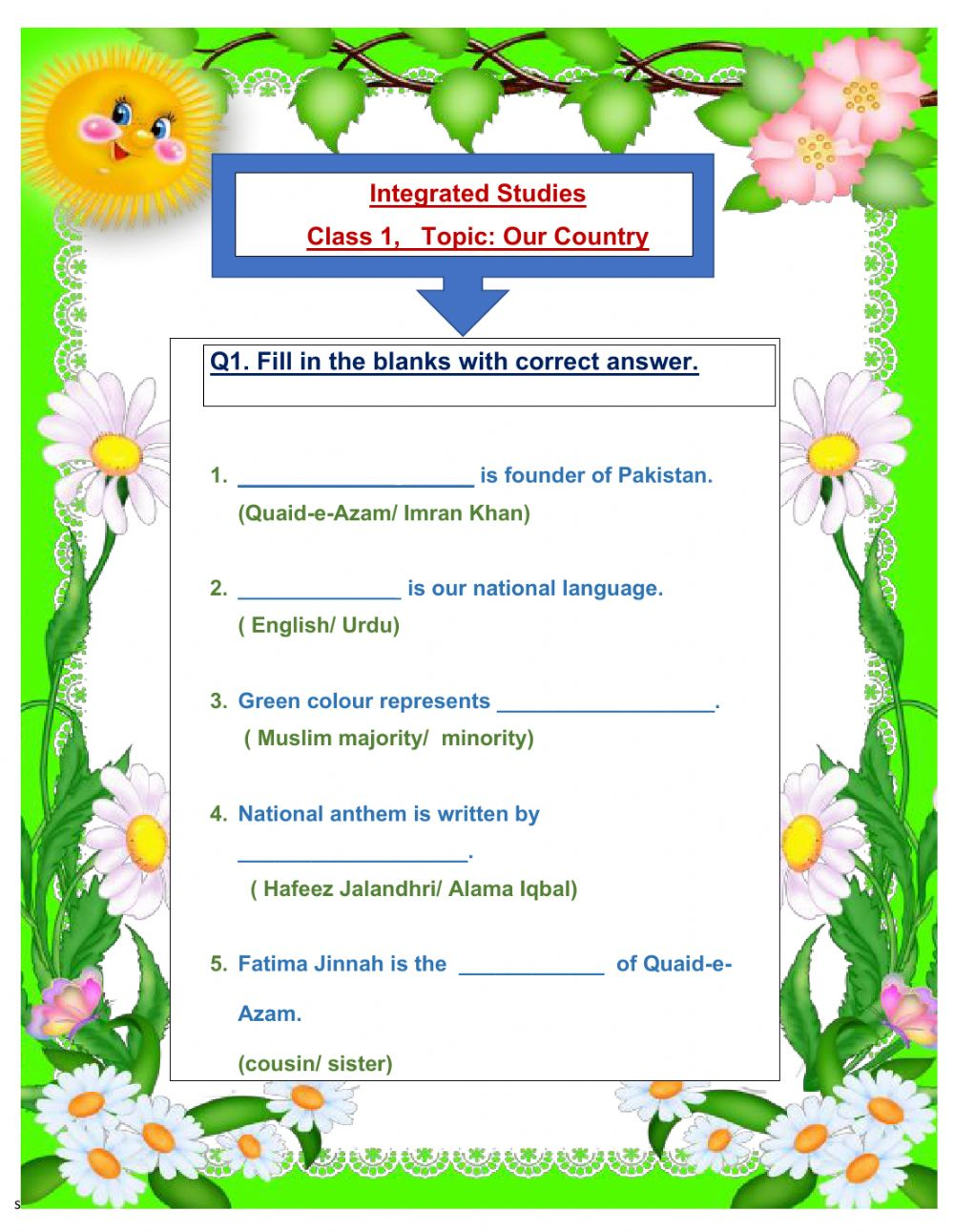 hight resolution of About Pakistan worksheet