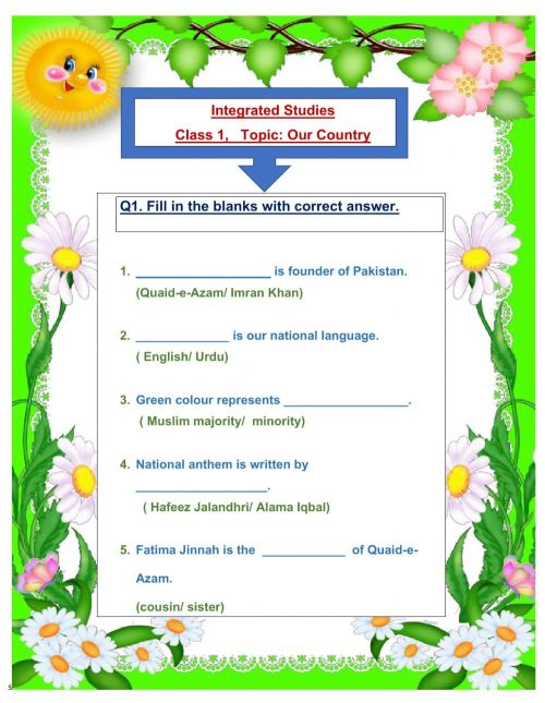small resolution of About Pakistan worksheet