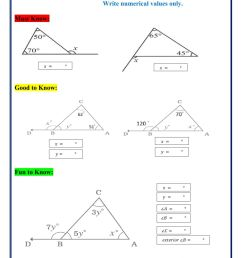 Exterior angles of a triangle interactive worksheet [ 1413 x 1000 Pixel ]