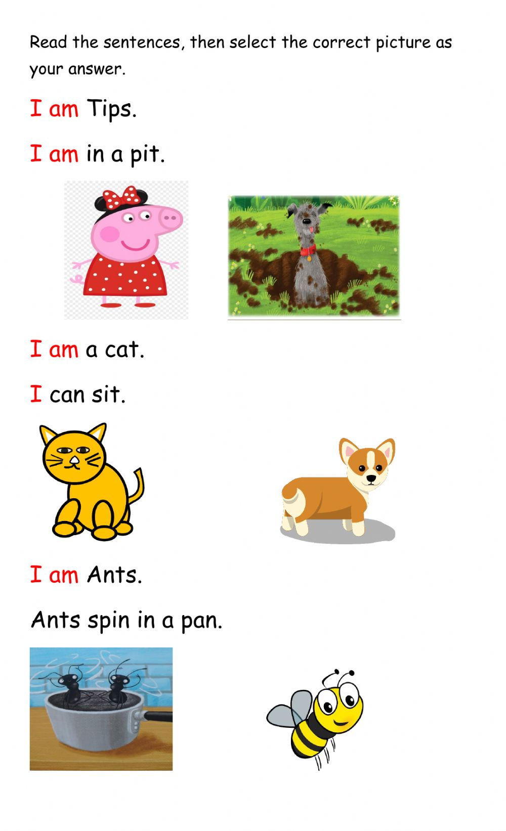 medium resolution of Context Clues interactive exercise for Infants 1