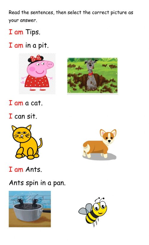small resolution of Context Clues interactive exercise for Infants 1