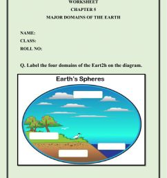 Major Domains of the Earth worksheet [ 1413 x 1000 Pixel ]