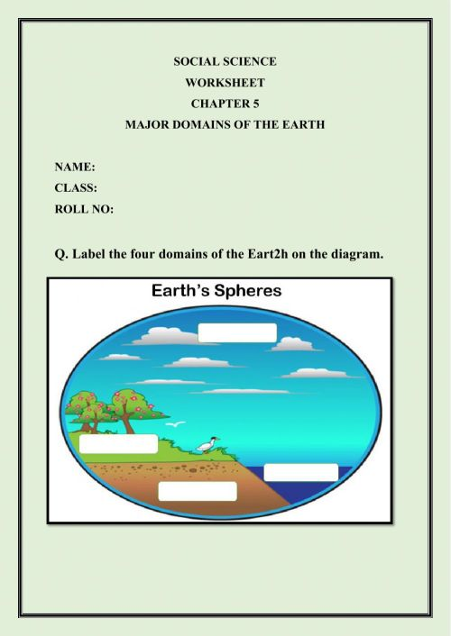 small resolution of Major Domains of the Earth worksheet