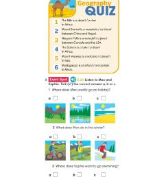 Geographical features worksheet for 5th grade [ 1413 x 1000 Pixel ]