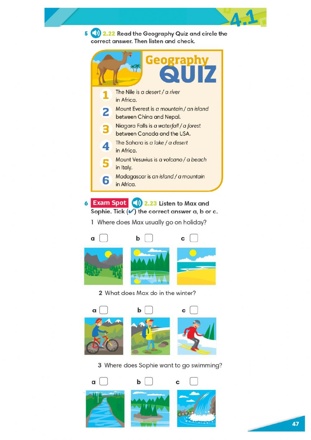 hight resolution of Geographical features worksheet for 5th grade