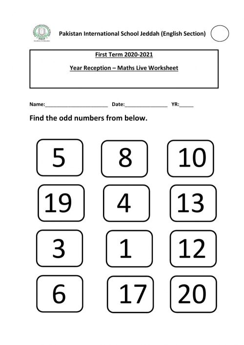 small resolution of Odd and Even Numbers online worksheet