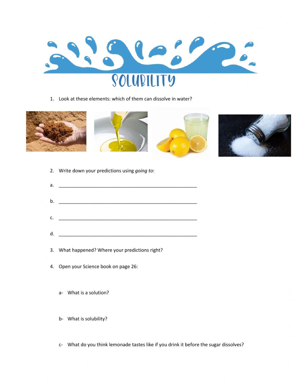 hight resolution of Solubility worksheet