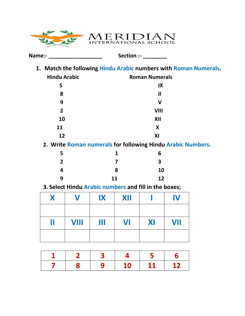 hight resolution of What Is Hindu Arabic And Roman Numerals