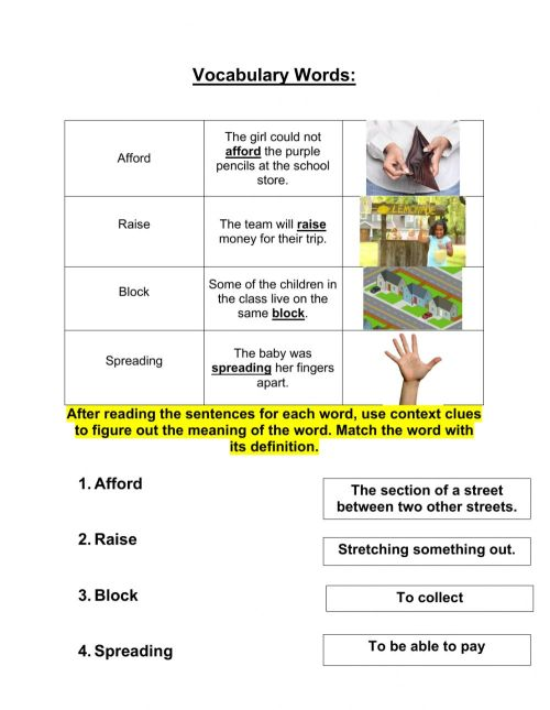small resolution of Grade 3 context clues 10-19 worksheet