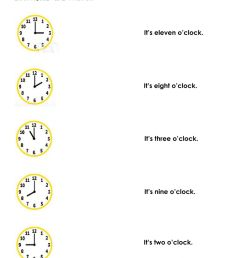 What time is it? worksheet for second grade [ 1413 x 1000 Pixel ]