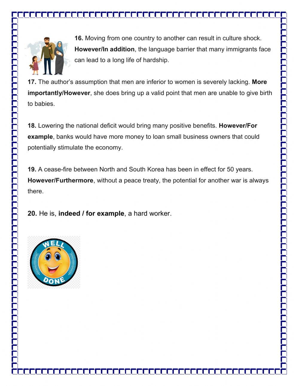hight resolution of Transitional Words interactive worksheet