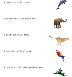 Can and can't online worksheet for First grade [ 1413 x 1000 Pixel ]