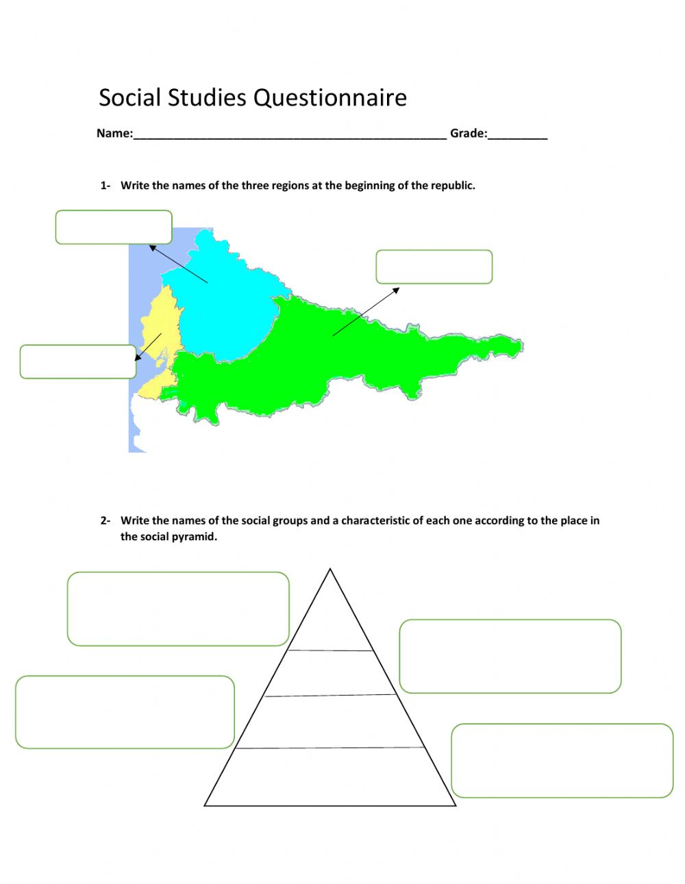 medium resolution of Social studies worksheet for 6th