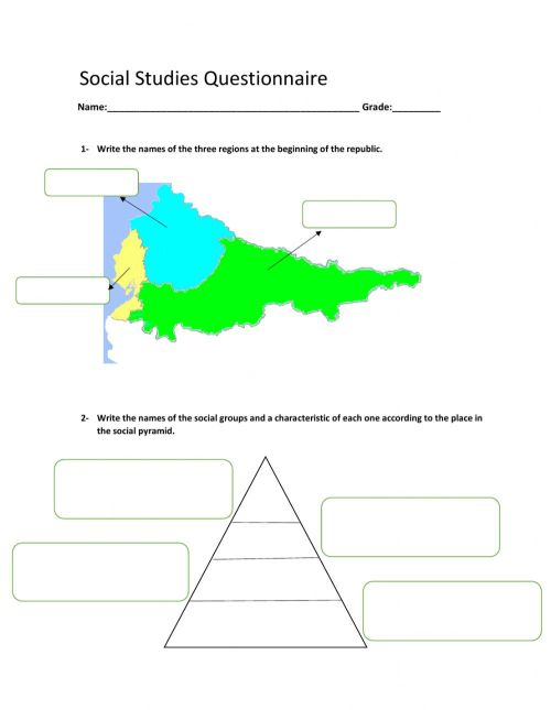 small resolution of Social studies worksheet for 6th