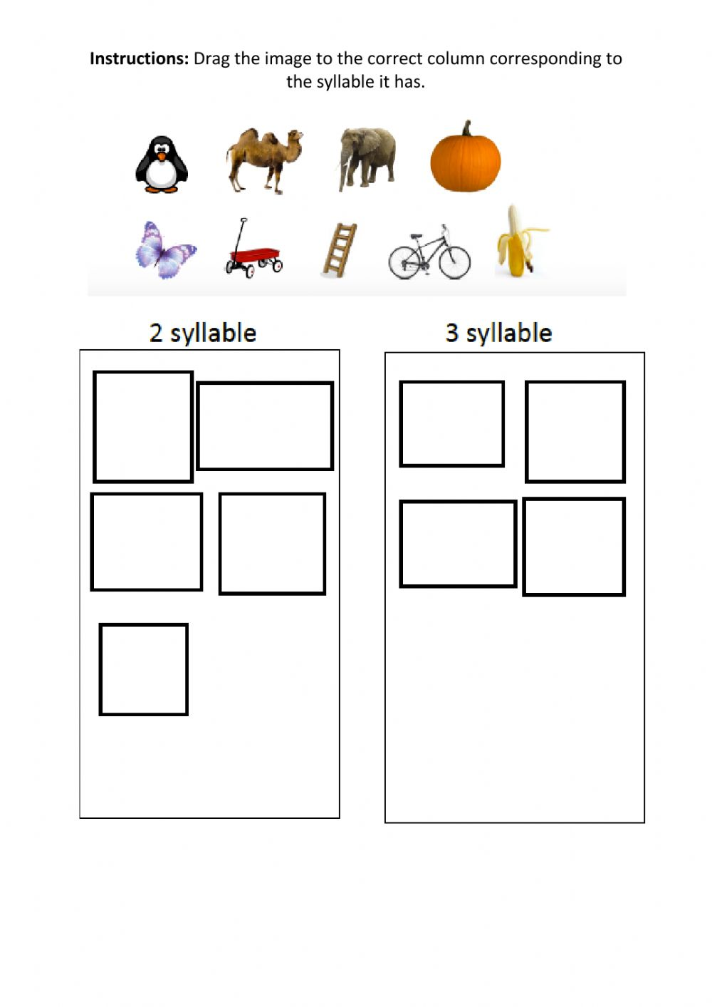 medium resolution of Phonics Syllables worksheet