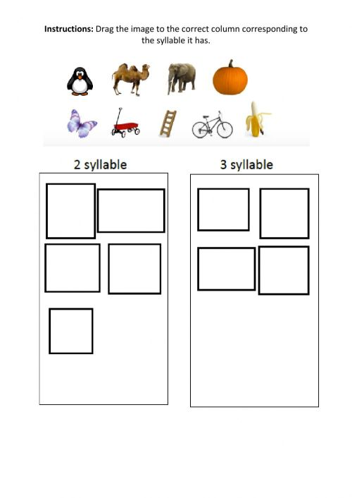 small resolution of Phonics Syllables worksheet