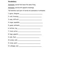 Synonyms and antonyms online worksheet for STD 1 [ 1291 x 1000 Pixel ]
