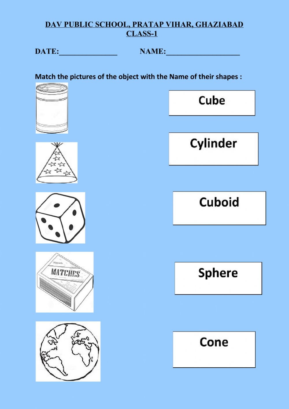 hight resolution of Shapes online exercise for GRADE 1