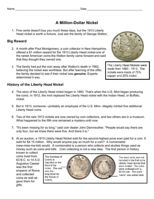 small resolution of Nonfiction Text Features worksheet