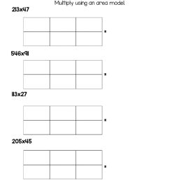 Multiply Using Area Models worksheet [ 1291 x 1000 Pixel ]