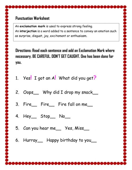 small resolution of Punctuation Worksheet interactive worksheet
