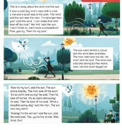 Story -THE WIND AND THE SUN- worksheet [ 1291 x 1000 Pixel ]
