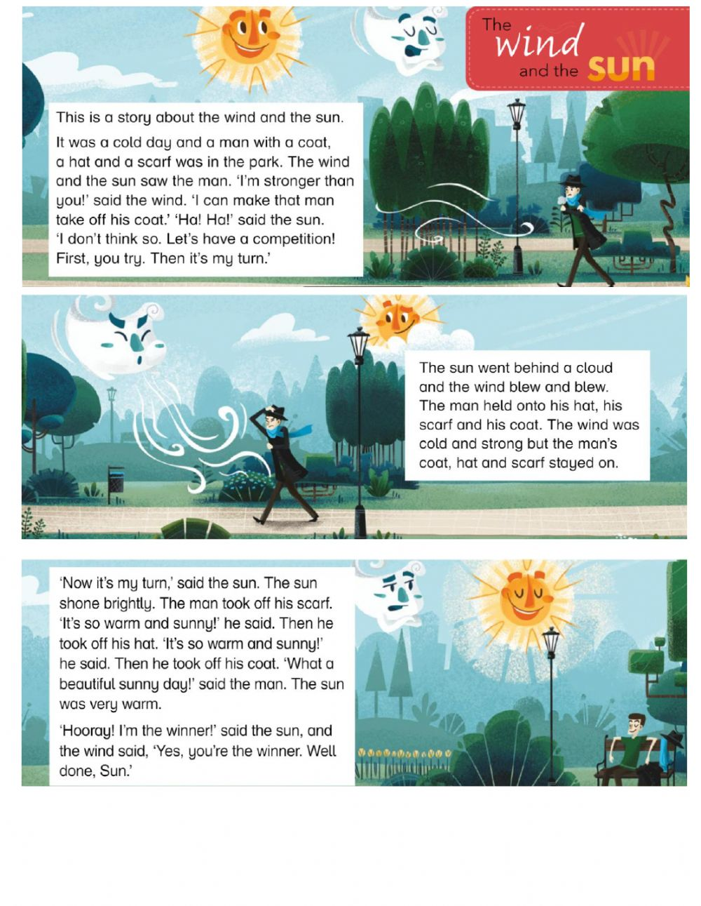 hight resolution of Story -THE WIND AND THE SUN- worksheet