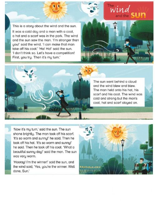 small resolution of Story -THE WIND AND THE SUN- worksheet
