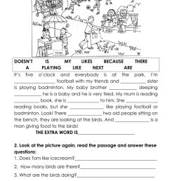 Cloze test for kids worksheet [ 1413 x 1000 Pixel ]
