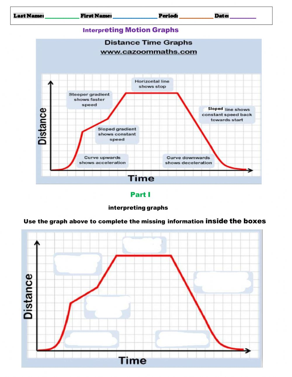 hight resolution of Speed Graphs worksheet