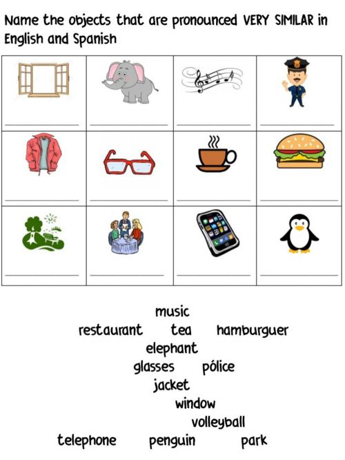 small resolution of Cognates worksheet