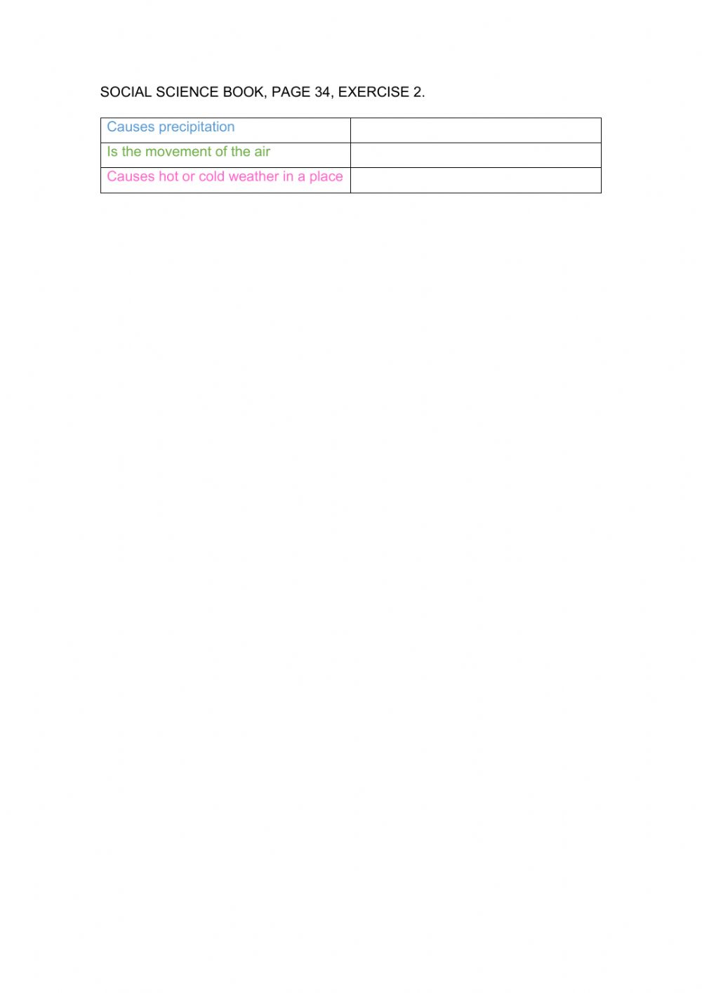 hight resolution of The weather and its elements worksheet