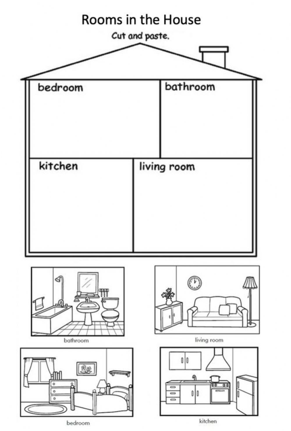 hight resolution of Parts of the house online exercise for grade 2