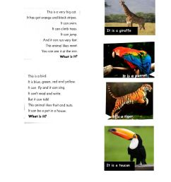 Guess the animal online worksheet for 2nd grade [ 1413 x 1000 Pixel ]