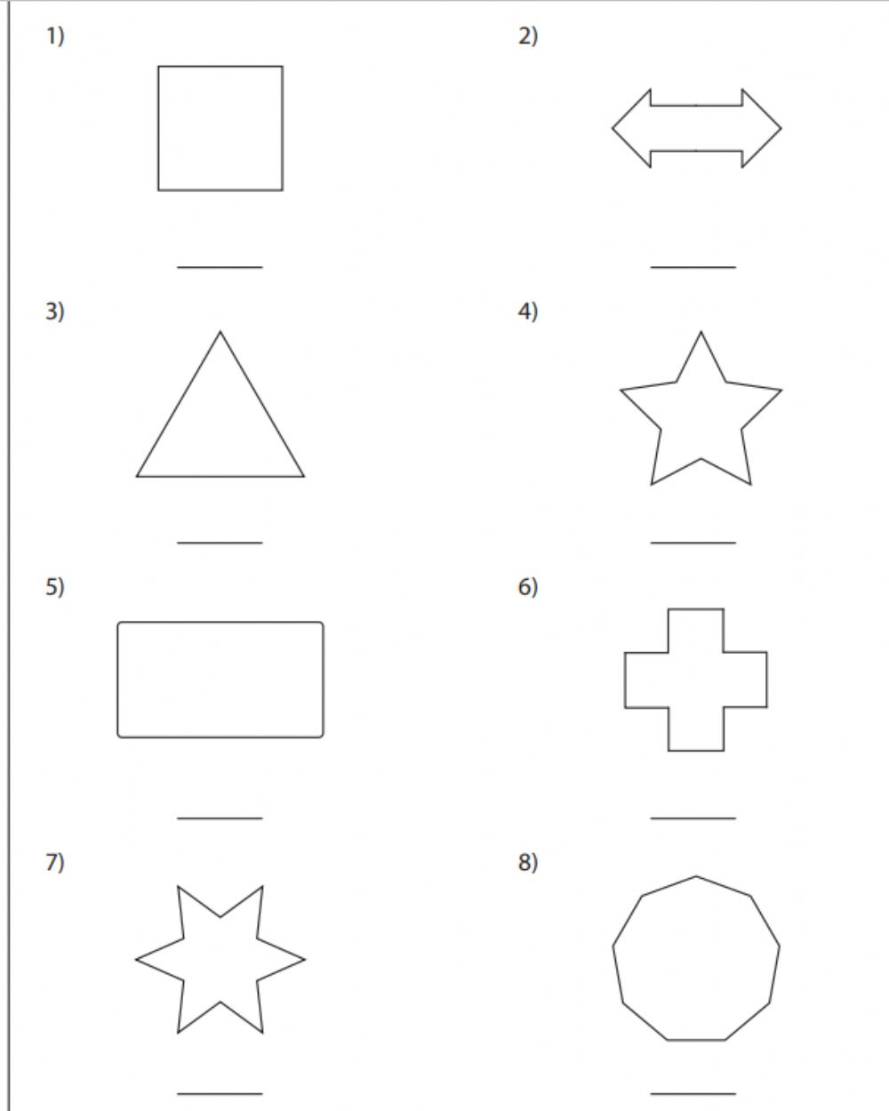 hight resolution of Lines of Symmetry worksheet