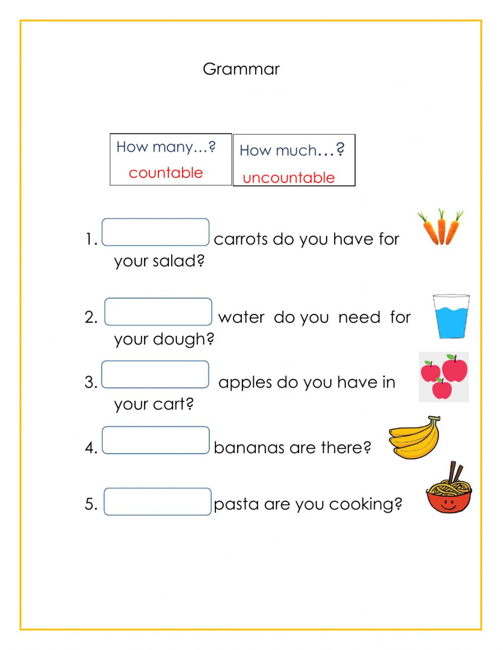 hight resolution of Grammar online exercise for 2nd grade