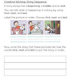 Story Sequence Worksheet worksheet [ 1291 x 1000 Pixel ]