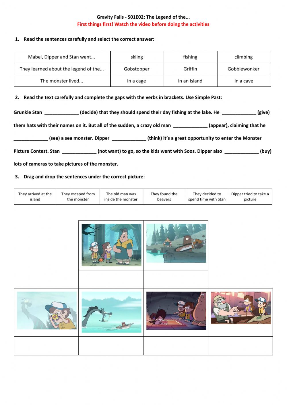hight resolution of Gravity Falls - S01-E02: The Legend of the... worksheet