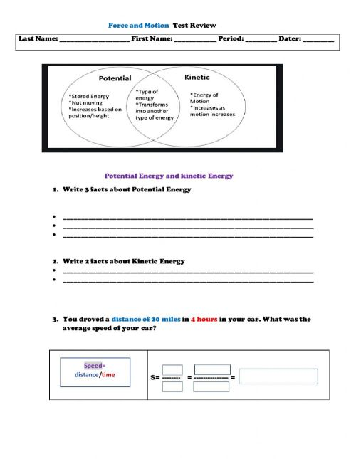 small resolution of Force and Motion online worksheet