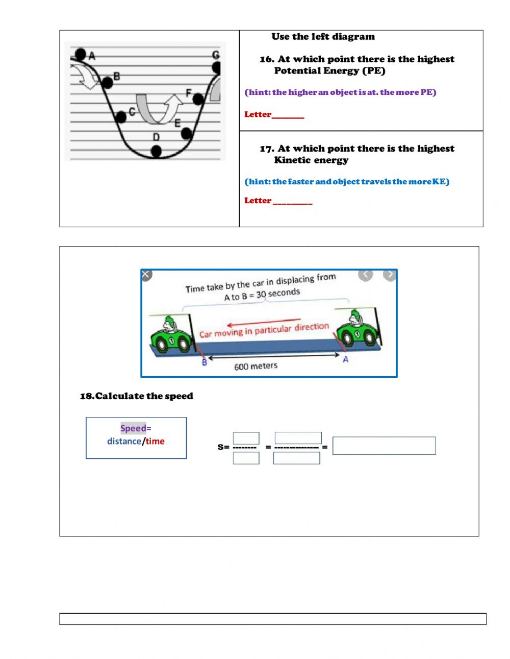 medium resolution of Force and Motion online worksheet