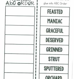 Vocab ABC Order worksheet [ 1291 x 1000 Pixel ]