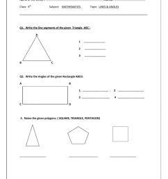 Lines \u0026 angles worksheet [ 1291 x 1000 Pixel ]