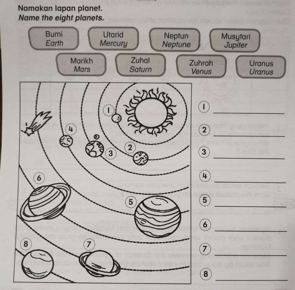 hight resolution of Name 8 Planets worksheet