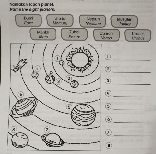 small resolution of Name 8 Planets worksheet