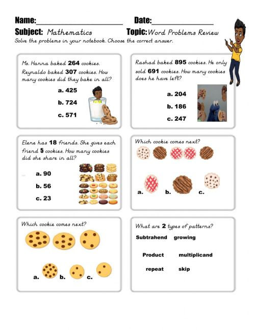 small resolution of Math Word problems worksheet